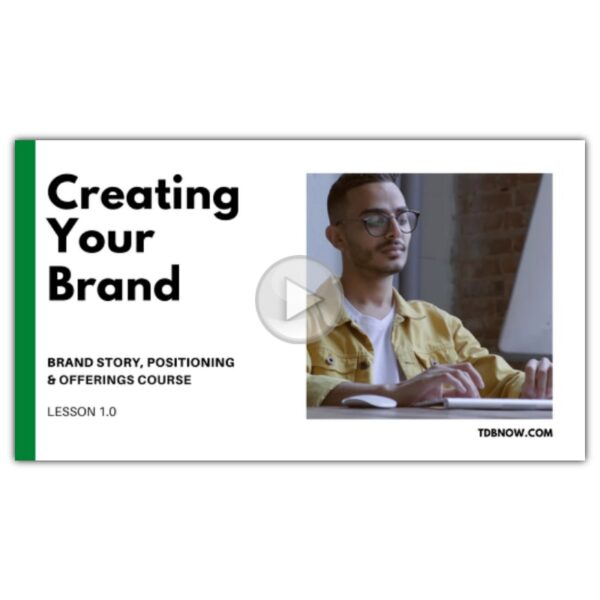 Creating Your Brand Video Lesson