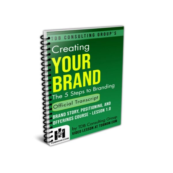 Creating Your Brand Official Transcript