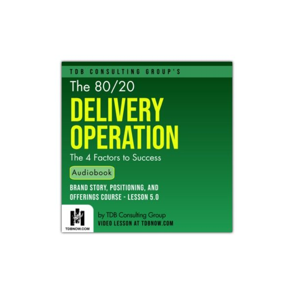 The 80 20 Delivery Operation Audiobook