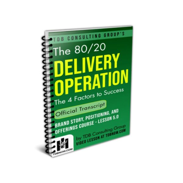 The 80 20 Delivery Operation Official Transcript
