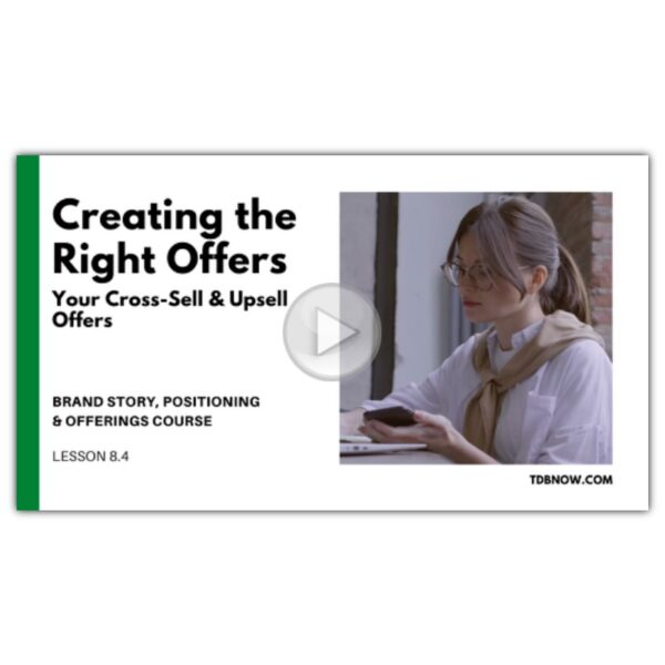 Your Cross-Sell and Upsell Offers Video Lesson