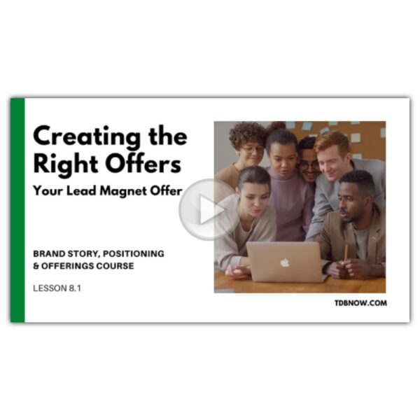 Your Lead Magnet Offer Video Lesson