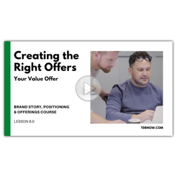 Creating Your Value Offer Video Lesson