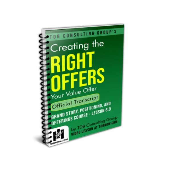 Creating Your Value Offer Official Transcript