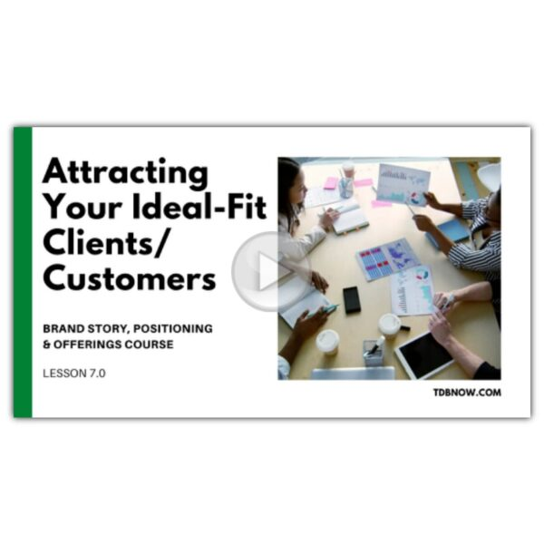 Attracting Your Ideal-Fit Clients/Customers Video Lesson