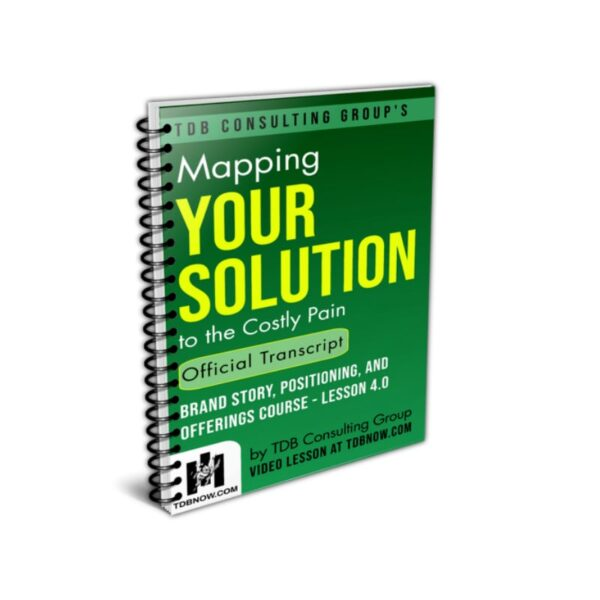 Mapping Your Solution to the Costly Pain Official Transcript