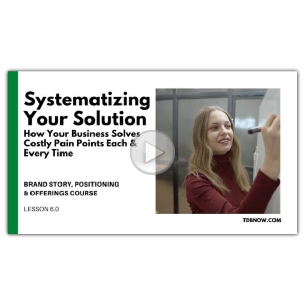 Systematizing Your Solution Video Lesson