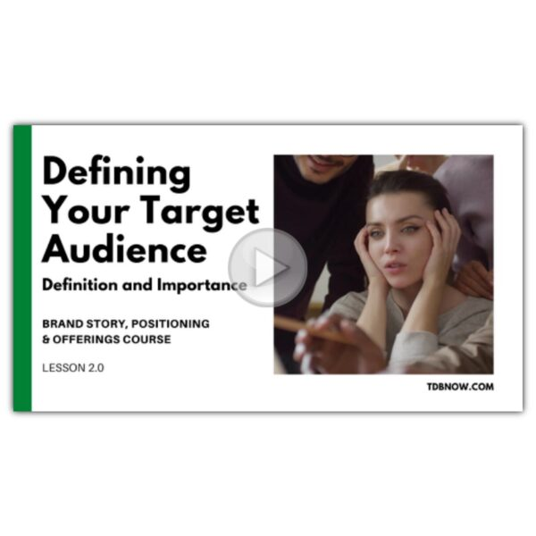 Target Audience Definition Video Lesson