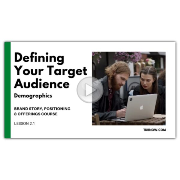 Target Audience Demographics Video Lesson