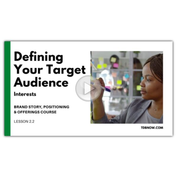 Target Audience Interests Video Lesson